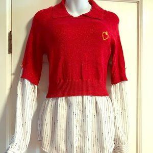 Princess Vera Wang Long Sleeve Sweater Blouse- Med